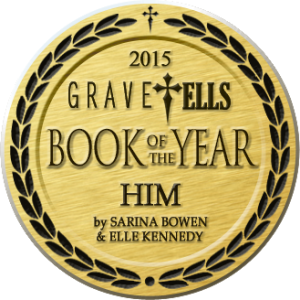 GraveTells 2015 Book of the Year - Him by SarinaBowen & ElleKennedy