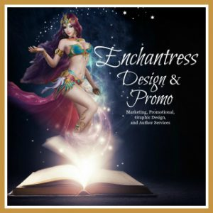 Enchantress Design & Promo Button Square GRAB BUTTON with border gold