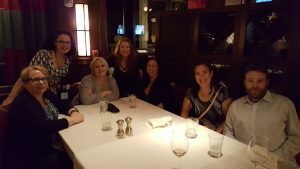 Dinner with Asa Maria Bradley, Tonya Burrows, Boone Brux, Rebecca Zanetti, and Kathy Lyons