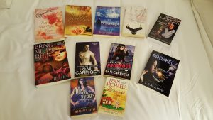 Signed books from the SFARWA raffle basket
