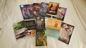 Signed books from the GraveTells raffle basket