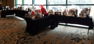 Baskets donated for the Habitat for Humanity raffle fundraiser