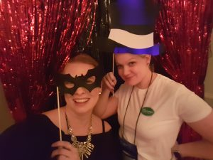 Selfie station with Sookie Stackhouse...I mean author & blogger Chelsea Mueller