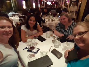 A scrumptious dinner with Chudney Thomas, Nicole Plummer, and Amy Lane. Love you ladies!