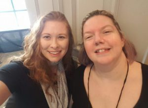 Hanging with Nicole Plummer, my most excellent panel assistant